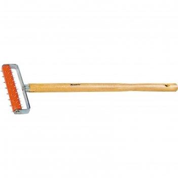 Валик для гипсокартона matrix, 150 мм, игольчатый, деревянная ручка 500 мм