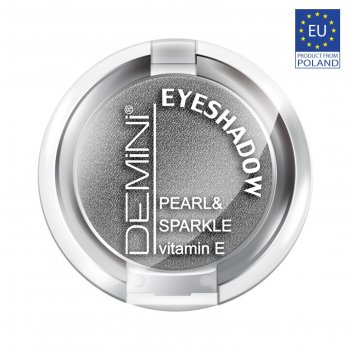 Тени для век demini pearl & sparkle eye shadow, тон 641 тёмно-серый металл