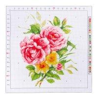 Канва для вышивания с рисунком «райский букет», 41 х 41 см