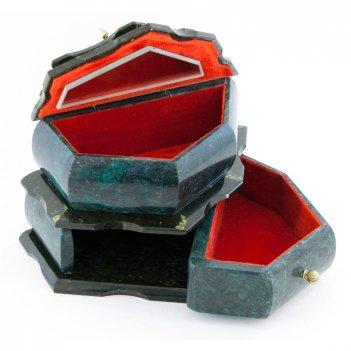 Ларец для украшений камень змеевик