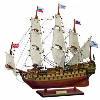 Ac99 корабль ингерманланд 1715г., 50x48x13см