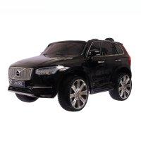 Электромобиль volvo xc90, eva колёса, кожаное сидение, цвет чёрный глянец