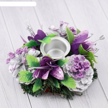 Подсвечник на одну свечу лилии