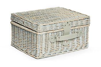 Набор для пикника в корзине на 2 персоны романтика