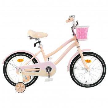 Велосипед 16 graffiti flower, цвет персиковый/розовый