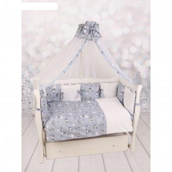 Комплект в кроватку exclusive soft collection, 18 предметов, принт 101 бар