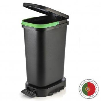 Мусорный бак с педалью be-eco 20л, черный-зеленый