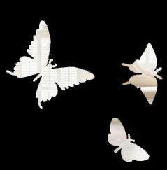 Дополнительные порхающие бабочки зеркальные 3 шт.