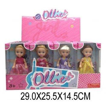 Кукла ollie 12cм принцесса,в ас-те, дисплей.