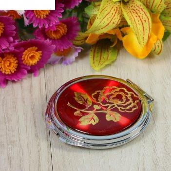 Зеркало компактное ассорти в форме круга, микс, с увеличением