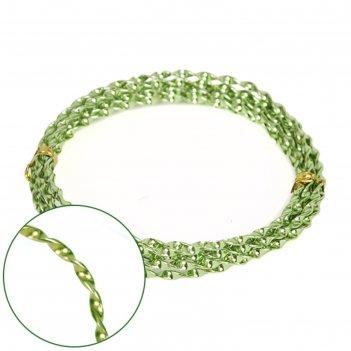 Проволока декоративная «спираль» 2 мм х 2 м, 15 г, зелёная