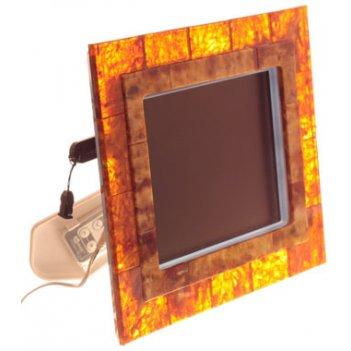 Цифровая фоторамка в янтаре