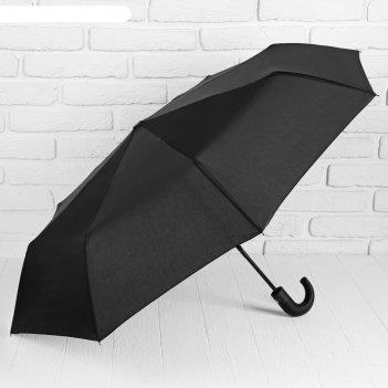 Зонт автомат, ручка-крючок, цвет черный