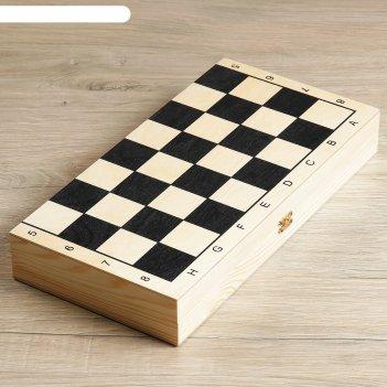Шахматы гроссмейстерские (доска дерево 40х40 см, фигуры пластик, король h=