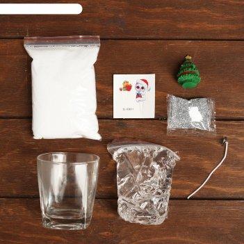 Школа талантов набор для творчества делаем гелевую свечу, ёлочка, в пакете