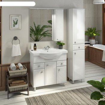 Шкаф-колонна comforty «сочи-35» белый