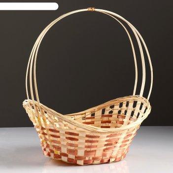 Корзина «ладья», 36x27x13 см, бамбук
