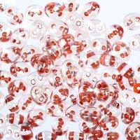 Бисер gamma 2,5х5мм (т113 прозрачный/оранжевый)