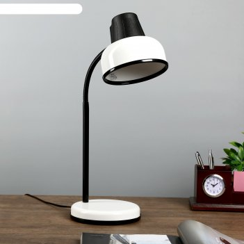 Настольная лампа бета_ш e27 60вт белый гибк.стойка 45см