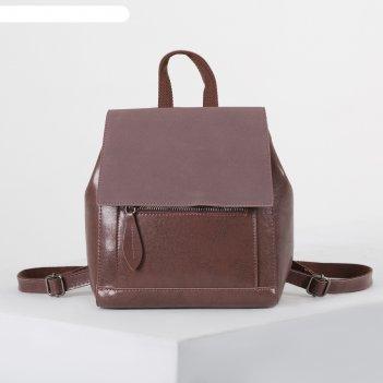 Рюкзак молод l-1891, 23*10*28, отд на молнии, 2 н/кармана, коричн