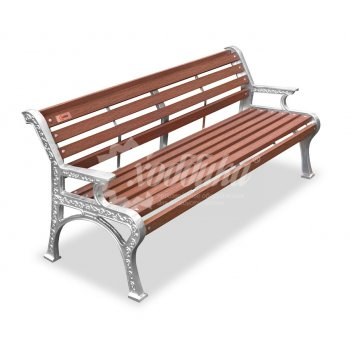 Скамейка алюминиевая «ретро стиль» с подогревом 1,5 м