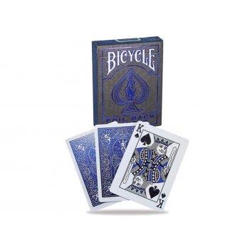 Карты bicycle metalluxe blue