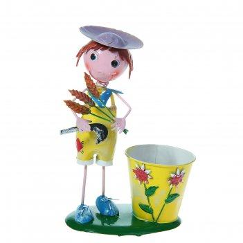 Фигура садовая с кашпо «дэйви»