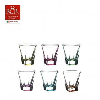 Набор стопок для водки цветные 60 мл fusion rcr style