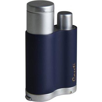 Зажигалка caseti для сигар, газовая турбо, хромированная, мато