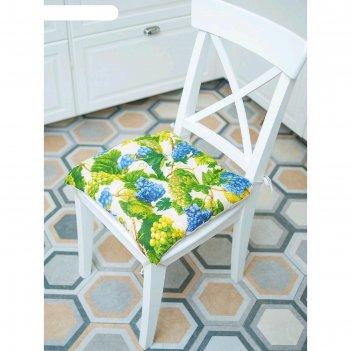Подушка на стул «спелый виноград», размер 45x45 см, рогожка