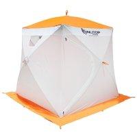 Палатка призма 170 (1-сл) люкс композит, бело-оранжевая