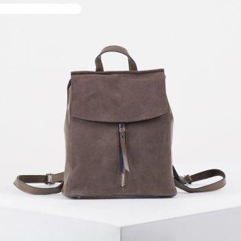 Рюкзак молод l-z0722, 25*10*30, замша, отд на молнии, 2 н/кармана, хаки