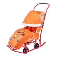 Сани-мобиль котик цвет: оранжевый см02-ск