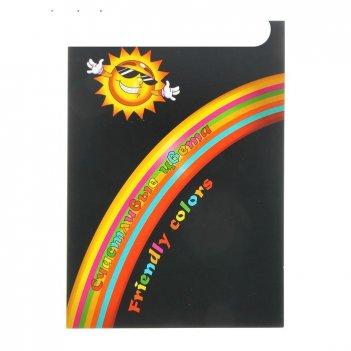 Планшет цветной бумаги а4, 70 листoв , 7 цветов счастливые цвета, 80г/м2