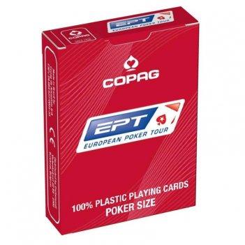 """Карты для покера """"copag ept"""" 100% пластик, бельгия, красная руба"""