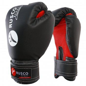 Перчатки боксерские rusco sport кож.зам.  8 oz черные