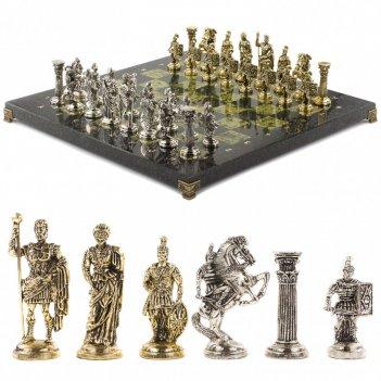 Подарочные шахматы из камня римские воины 44х44 см
