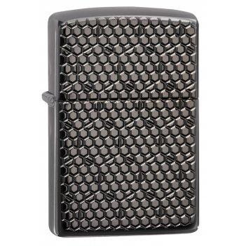 Зажигалка zippo armor™ с покрытием black ice®, латунь/сталь, чёрная, глянц