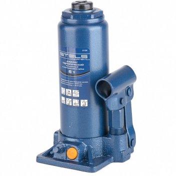 Домкрат гидравлический бутылочный, 6 т, h подъема 216-413 мм, в пластиковы