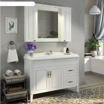Зеркало-шкаф comforty «палермо-120» белый