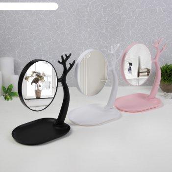 Зеркало настольное, с увеличением, зеркальная поверхность — 14,5 x 17 см,