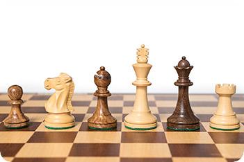 Шахматные фигуры стаунтон монарх индия король 8,3см
