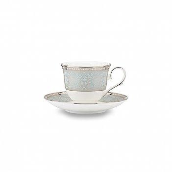 Чашка чайная с блюдцем «вестмор», объем: 180 мл, материал: костяной фарфор