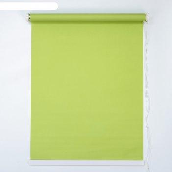 Штора рулонная 120x180 см, цвет зелёный