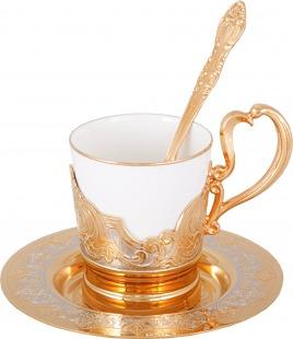 Набор кофейный кофе   сливки (тарель d 110, чашка, ложка)