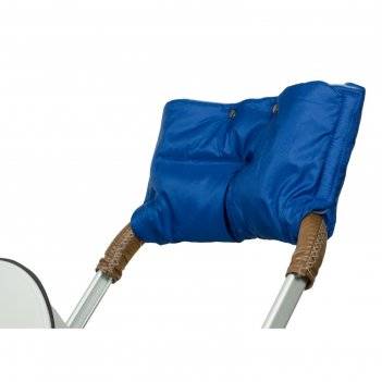 Муфта для рук на коляску флисовая (на липучке), цвет синий мкф06-001