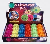 Мяч прыгун с шипами, свет, 6,5 см, дисплей