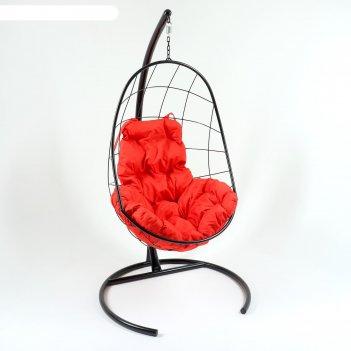 Кресло-качели подвесные овал красный
