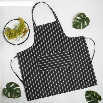 Фартук доляна chef, 70*68 см, 100% п/э