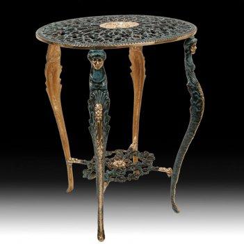 Столик овальный из бронзы